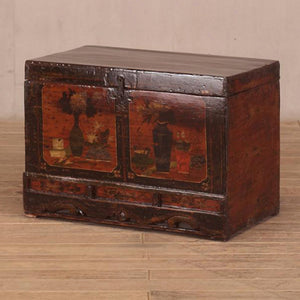 Antique Chinese painted marriage chest
