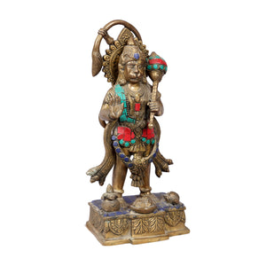 Vintage Indian brass spiritual deity statue of HANUMAN