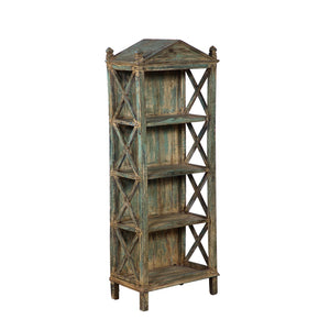 Vintage Anglo-Indian Painted Bookcase