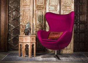SHE-066 Egg Chair in Purple Wool SHO-14