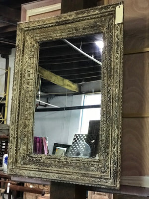 Anglo-Indian style carved mirror frame, reproduction