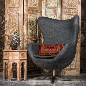 SHE-066 Egg Chair in Gray Wool SHO-55