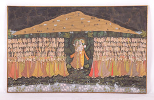 Vintage Indian large Pichwai Painting on Textile