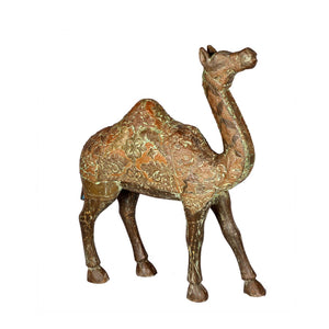 Wooden Camel Sculpture from India
