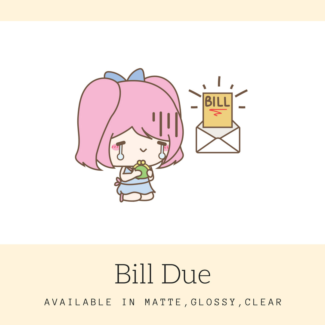 Bill Due Stickers | Character Stickers | Mari | Erin Condren | AS56