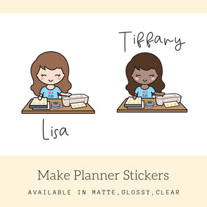 Planner Girl Stickers | Character Stickers | Erin Condren | AS94