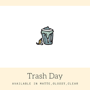 Trash Day Stickers | Icon Stickers | CS158