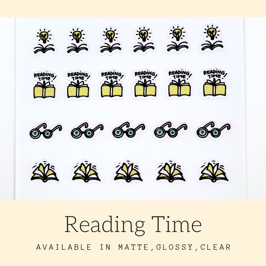 Reading Time Stickers | Icon Stickers | CS171A