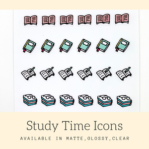 Study Time Icon Stickers | Icon Stickers | CS171A
