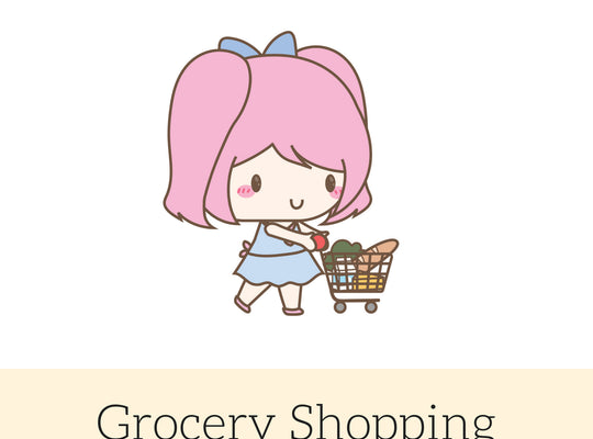 Grocery Stickers | Character Stickers | Mari | Erin Condren | AS58