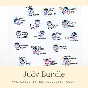 Character Stickers | Judy | Erin Condren | AS110
