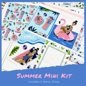Mini Kit | Summer | Planner Stickers | Erin Condren | MK20