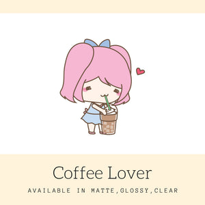 Coffee Stickers | Character Stickers | AS52