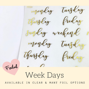 Foiled Stickers | Erin Condren | Planner Stickers | FSS21