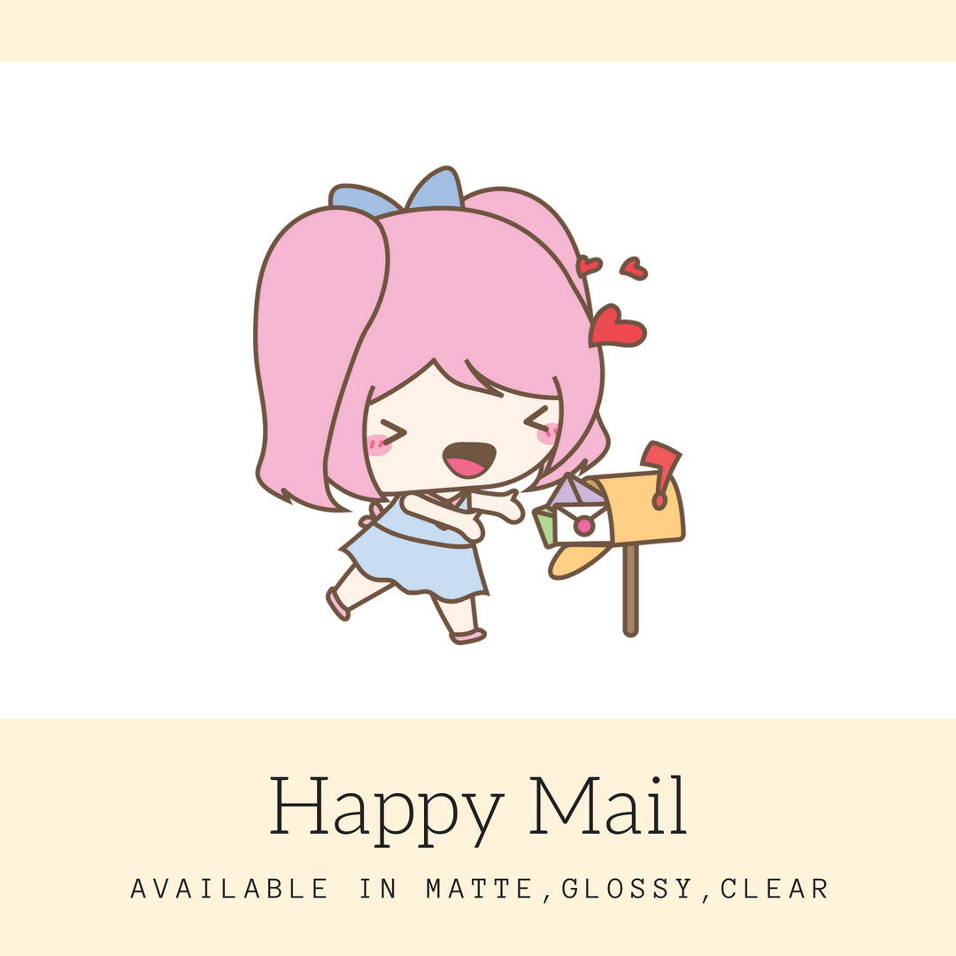 Happy Mail Stickers | Character Stickers | Mari | Planner Stickers | Erin Condren | AS68