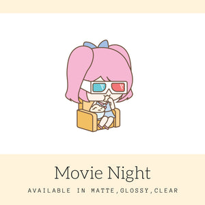 Movie Night | Movie Stickers | Stickers | Character Stickers | Mari | AS48