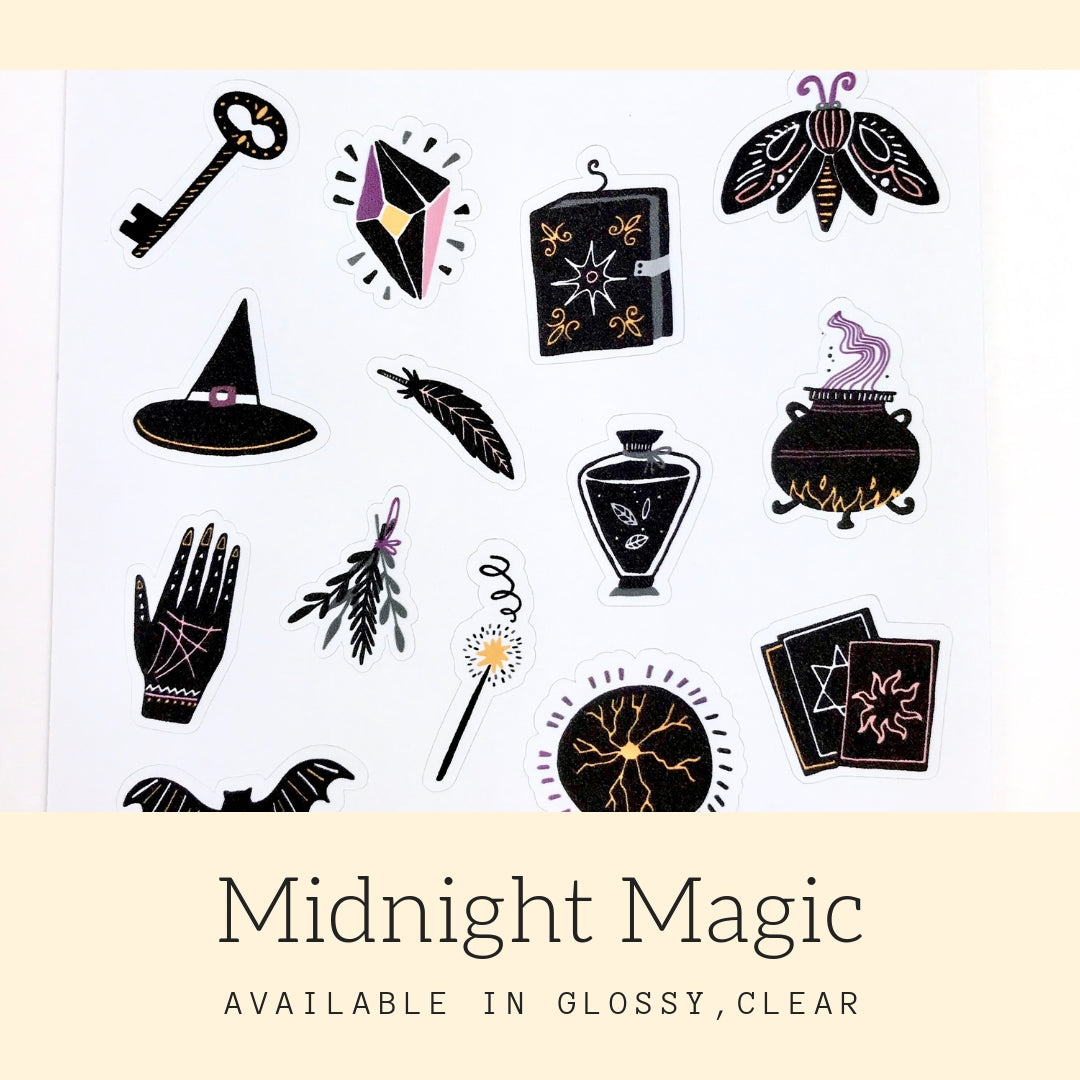 Midnight Magic Stickers | Icon Stickers | CS144
