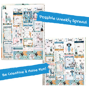 Weekly Kit | Llama Sticker | Erin Condren | Planner Stickers | WK38