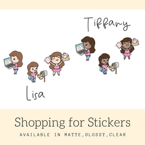 Planner Girl Stickers | Character Stickers | Erin Condren | AS86