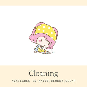 Cleaning Stickers | Character Stickers | AS66