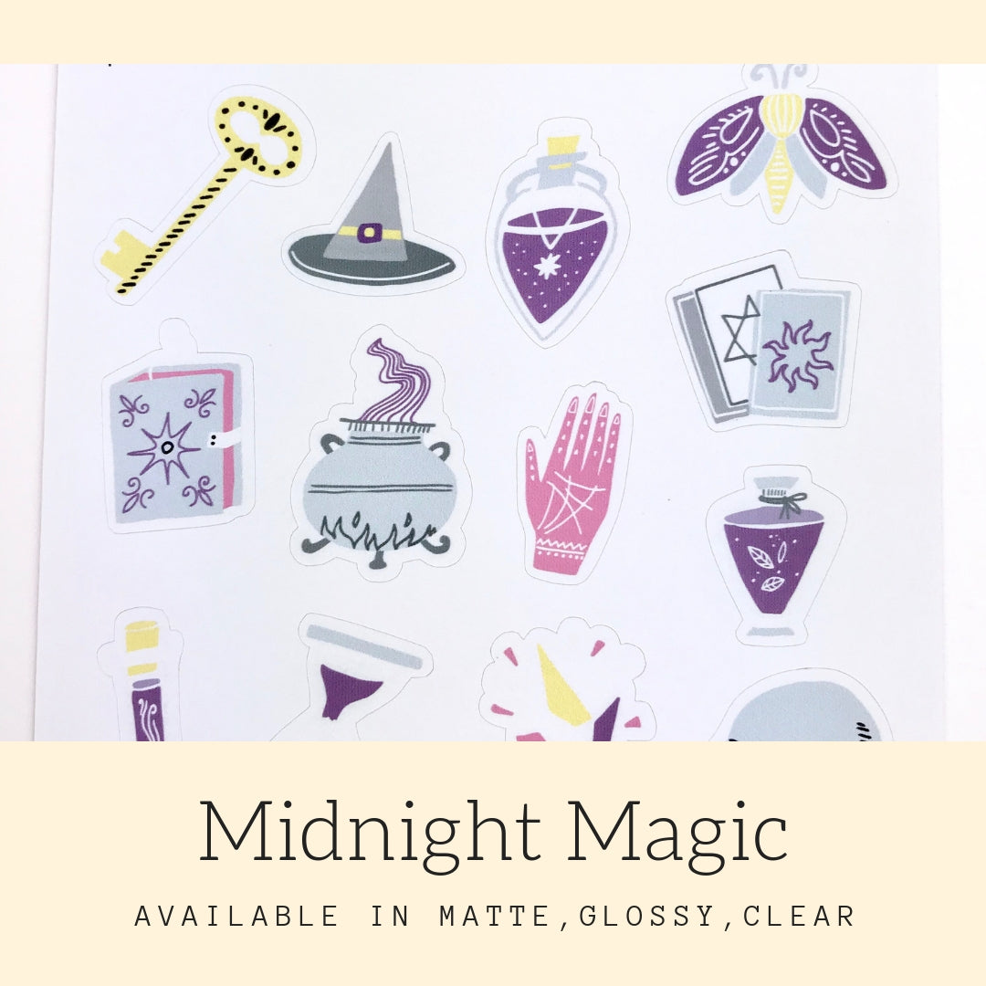 Midnight Magic Stickers | Icon Stickers | CS145