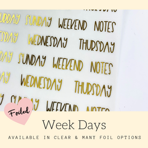 Foiled Stickers | Erin Condren | Planner Stickers | FSS23