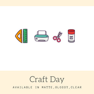 Craft Day Stickers | Icon Stickers | CS142