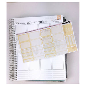 Pastel Yellow Functional Stickers | ECLP | Erin Condren | Happy Planner | PS13