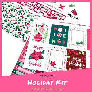 Weekly Kit | Holiday | Erin Condren | WK48