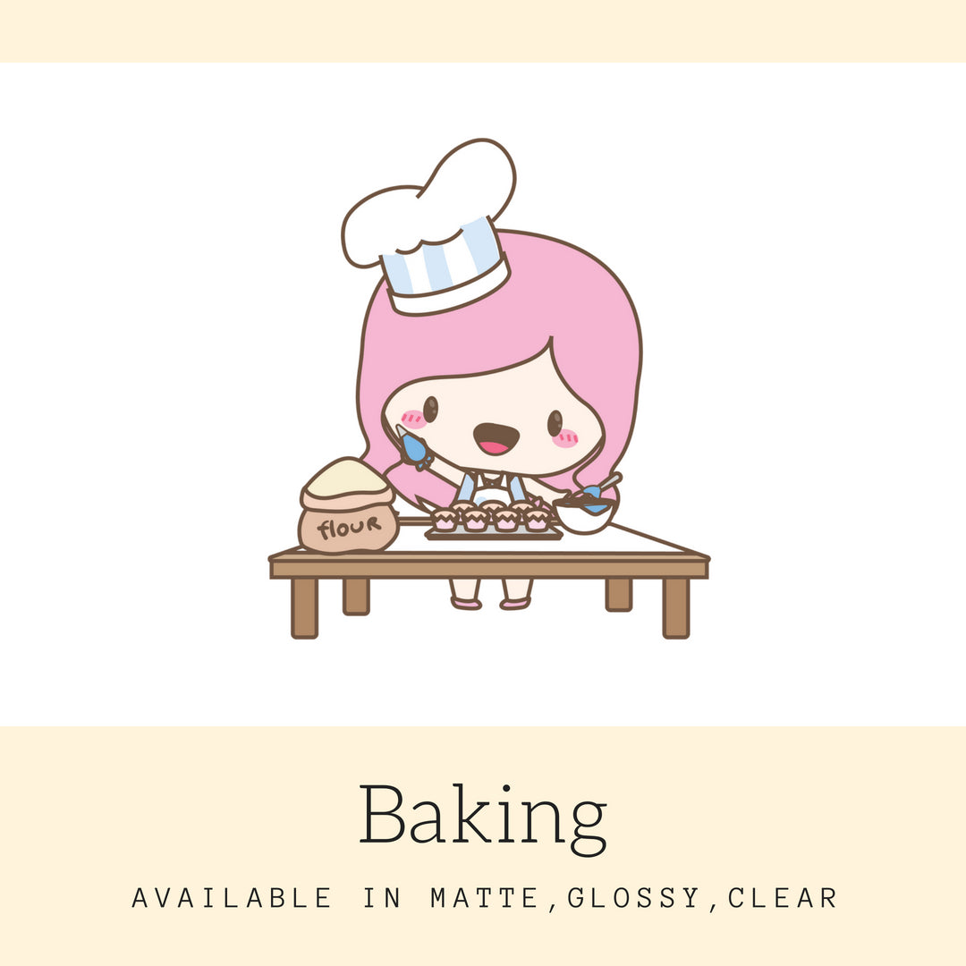 Baking | Character Stickers | Mari | Planner Stickers | Erin Condren | AS64