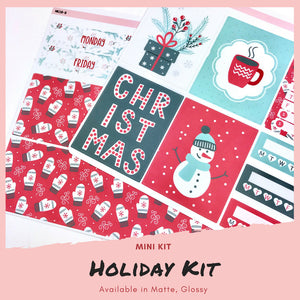 Mini Kit | Holiday | Planner Stickers | Erin Condren | MK12