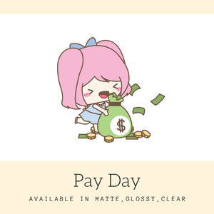Pay Day Stickers | Character Stickers | Mari | Erin Condren | AS40