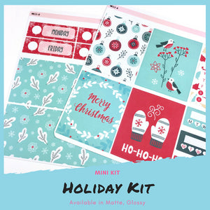 Mini Kit | Holiday | Planner Stickers | Erin Condren | MK13