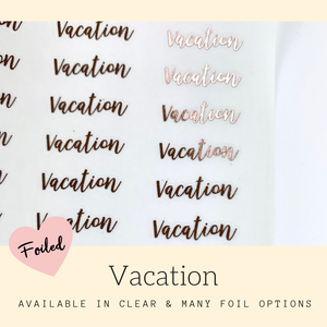 Foiled Stickers | Erin Condren | Planner Stickers | FSS28