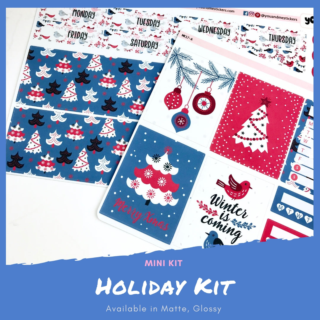 Mini Kit | Holiday | Planner Stickers | Erin Condren | MK17