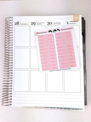 Pastel Header Stickers for Erin Condren | Happy Planner | Bullet Journal | PS20