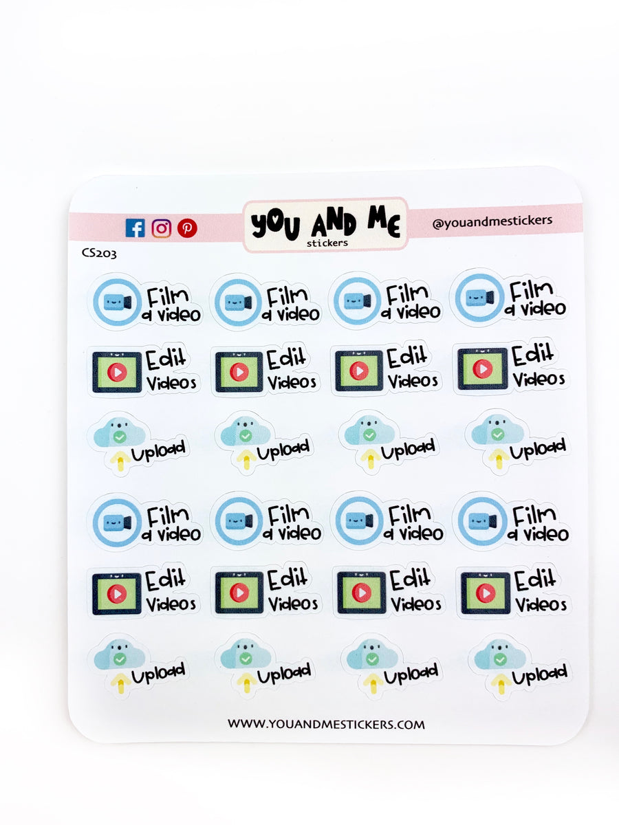 Kawaii Stickers | Planner Stickers | Erin Condren | CS203