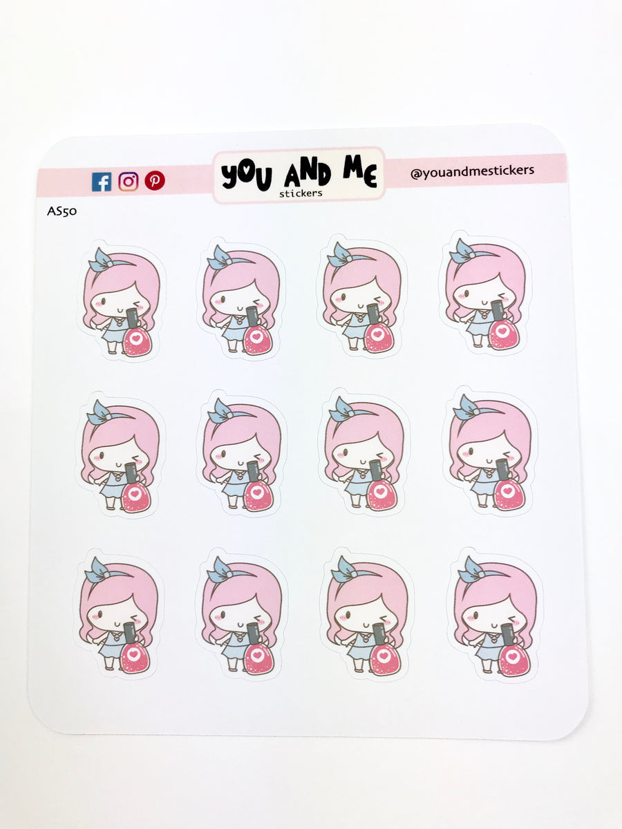 Beauty Stickers | Character Stickers | Mari | Erin Condren | AS50