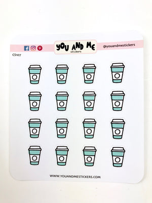 Coffee Stickers | Icon Stickers | CS107