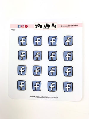Facebook Stickers | Icon Stickers | CS99