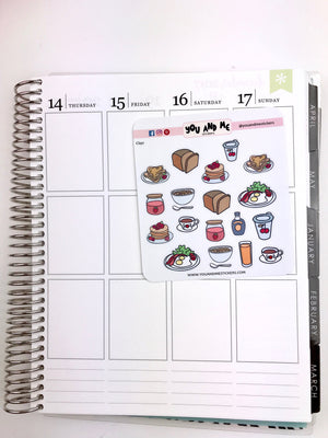 Food Stickers | Icon Stickers | CS129