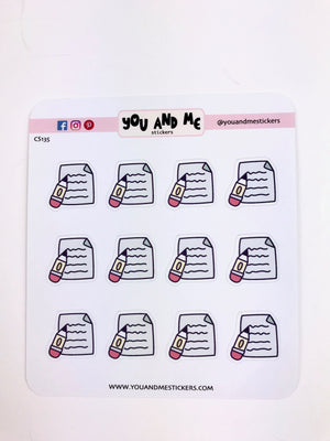 Study Stickers | Icon Stickers | CS135