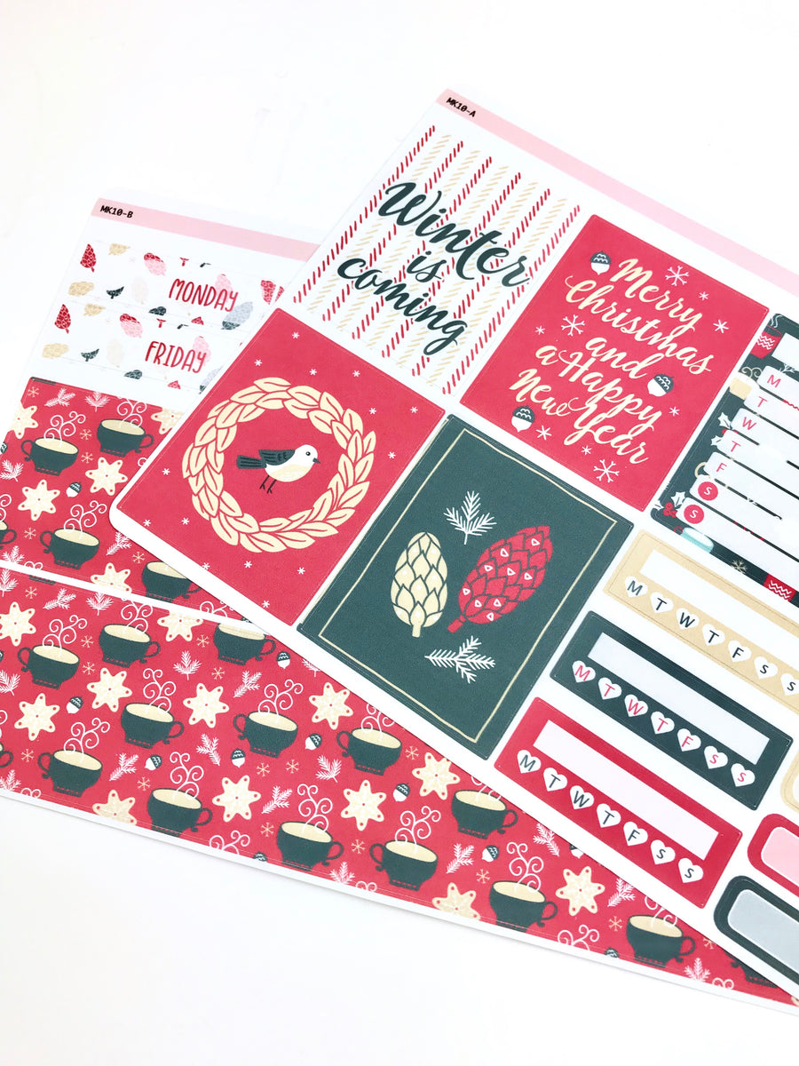 Mini Kit | Holiday | Planner Stickers | Erin Condren | MK10
