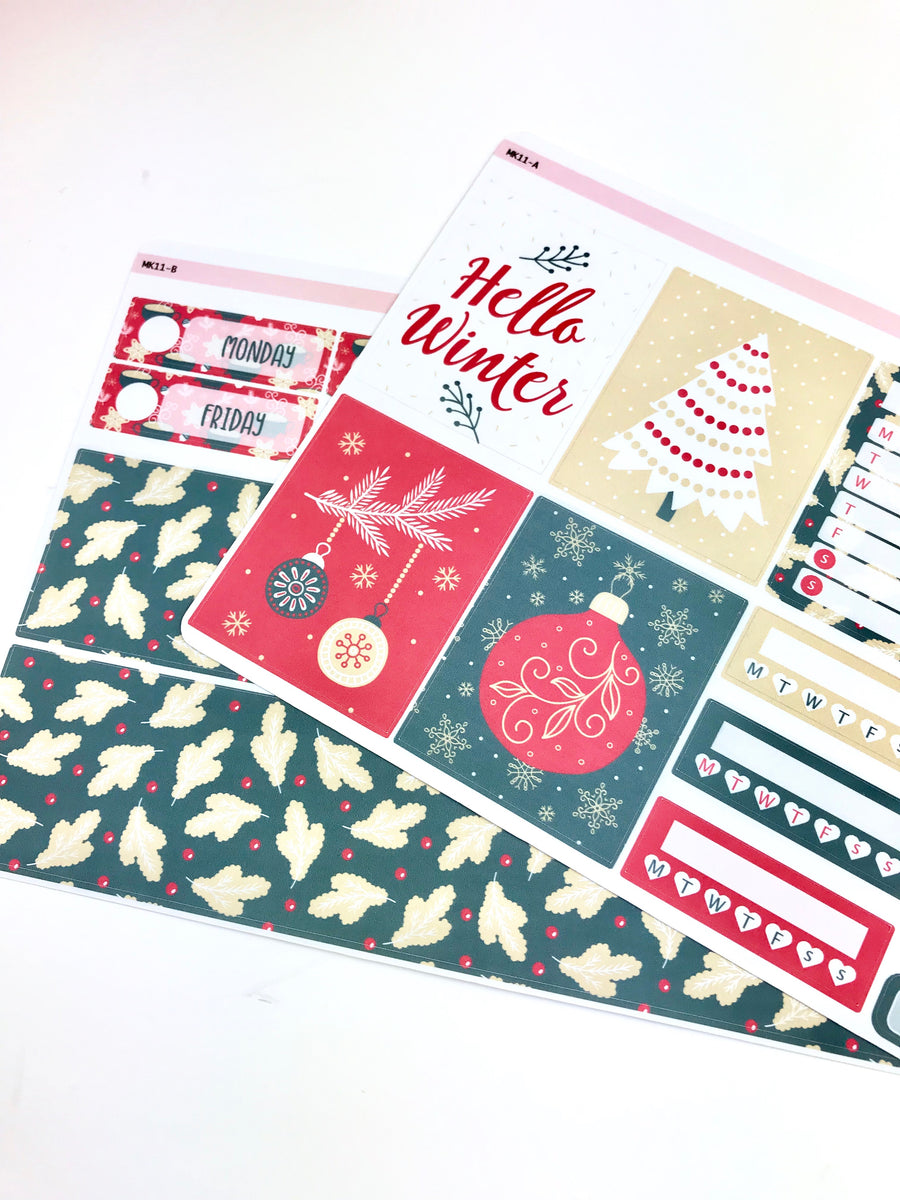 Mini Kit | Holiday | Planner Stickers | Erin Condren | MK11