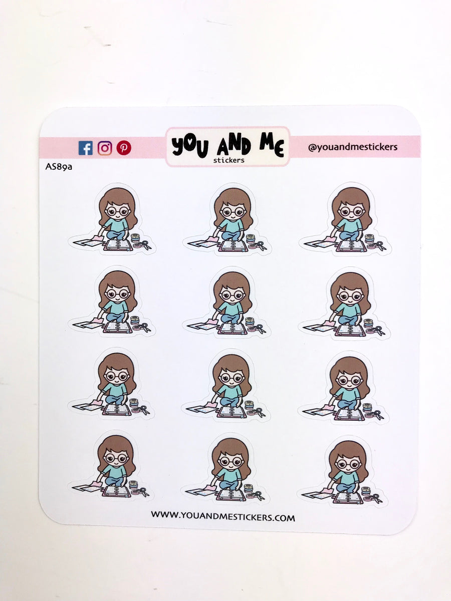 Planner Girl Stickers | Character Stickers | Erin Condren | AS89