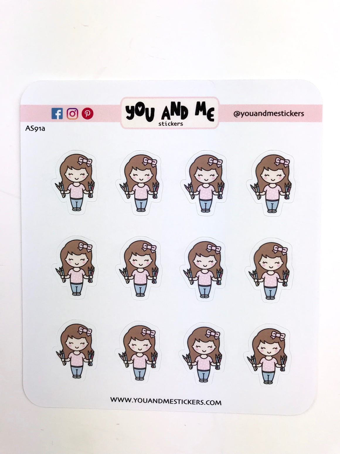 Planner Girl Stickers | Character Stickers | Erin Condren | AS91