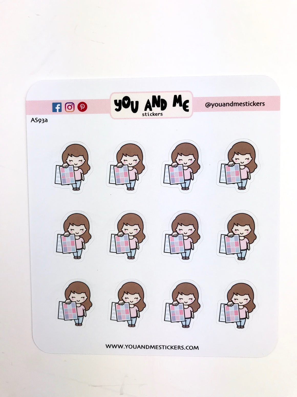 Planner Girl Stickers | Character Stickers | Erin Condren | AS93