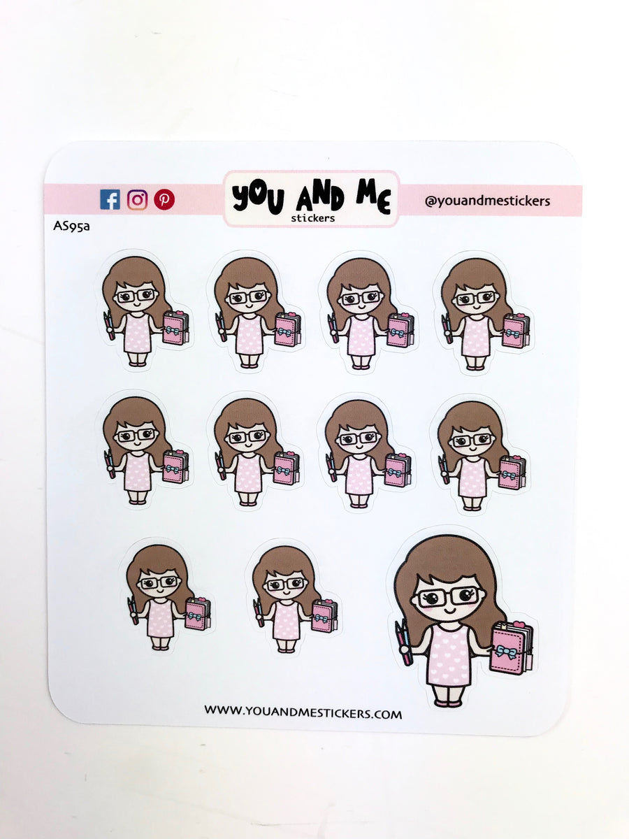 Planner Girl Stickers | Character Stickers | Erin Condren | AS95