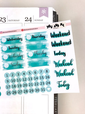 Date Cover | Watercolor Stickers | DCS10