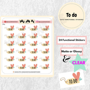 To do Stickers | Planner Stickers | Erin Condren | CS13